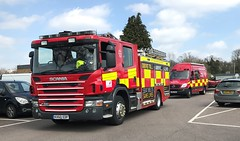 Hertfordshire Fire and Rescue Hatfeild (slinkierbus268) Tags: hertfordshirefireandrescue hertfordshire fireandrescue fireappliance fireengine stevenage hatfield mercedes sprinter wru water rescue unit scania pump