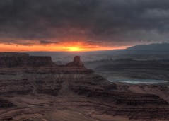 Dead Horse Point Sunrise Utah (Daveyal_photostream) Tags: utah outdoor outdoors outside sunrise sunlight landscape clouds nikon nikor nature naturesbeauty meandmygear mygearandme mycamerabag motion movement beautiful photomatix photoshop lightroom d850 travel vacation drama dramatic dark cloudyskies risingsun serene cliffs fallingrocks mountainscape sunrisescape