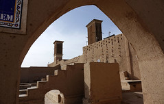 DSC07747 (Dirk Rosseel) Tags: badgirs wind towers yazd iran adobe desert