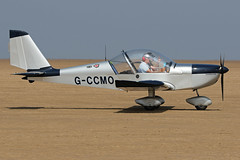 G-CCMO (QSY on-route) Tags: gccmo lancashire landing 2018 fly in knott end beach airfield 09062018