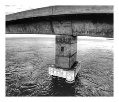 Florida Keys Bridge (GR167) Tags: concrete monolith current bridge keywest keys florida gulf atlantic ocean tide floridakeys iphoneart iphoneography 6x7 monochrome blackandwhite bandw iphone