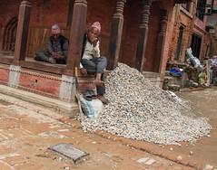 More resting men and making good after the earthquake (SamKirk9) Tags: nepal kathmandu bhaktapur