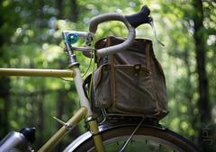 Bike bokeh (koperajoe) Tags: romanceur bokeh summer bicycle forest woodland swirlybokeh bubblebokeh 650b velo