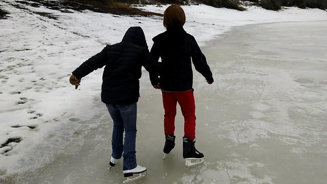 2018 Clyde Lake Ice Skating