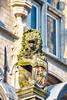 Lion at Stadhuys I (swissgoldeneagle) Tags: gouda nikond750 nikon hetoudestadhuys wappen stadhuys stadhuysgouda lion nederland statue cityhall südholland southholland netherlands rathaus coatofarms niederlande loewe zuidholland d750 löwe nikon80400mmvr stadhuis nl