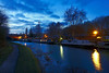 Sneyd Wharf, Walsall 23/02/2018 (Gary S. Crutchley) Tags: sneyd wharf bloxwich uk great britain england united kingdom urban town townscape walsall walsallflickr walsallweb black country blackcountry staffordshire staffs west midlands westmidlands nikon d800 history heritage local night shot nightshot nightphoto nightphotograph image nightimage nightscape time after dark long exposure evening travel slow shutter raw canal navigation cut inland waterway bcn narrowboat lock junction wyrley and essington canalscape scape