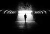 Tunnel light (MortenTellefsen) Tags: tunnel light monochrome bw blackandwhite bergen blackandwhiteonly black man lonely alone norway norwegian canon