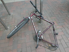Dead bike (stillunusual) Tags: manchester mcr city england uk manchesterstreetphotography streetphotography street urban urbanscenery bike bicycle cycle deadbike raleigh abandoned sad 2018