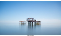____[  ]____ (Kevin HARWIN) Tags: old pier water sea beach sand sild long exposure brighton uk engalnd britain east sussex canon eos m3 sigma 1020mm lens filter
