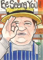 The Prisoner - Be Seeing You (j(ay)) Tags: beseeingyou shopkeeper denisshaw theprisoner unstoppablecards sketchcard jay