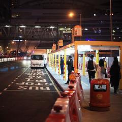 Hong Kong (peter.heindl) Tags: hong kong hongkong bus stop night wanchai ferry pier