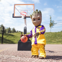 NBA's new rising star Baby Groot (Jezbags) Tags: groot court basketball ball nba babygroot iamgroot macro macrophotography macrodreams canon canon80d 80d closeup upclose laowa marvel marvelstudios laker guardiansofthegalaxy avengers toy toys hottoys hoop net streetball