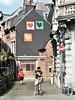 Liège (lorenzog.) Tags: liège lüttich liegi lidje luik house buildings windows belgium nikon d700 people bicycle