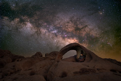 Scorpius Arch Selfie (RyanLunaPhotography) Tags: fuji joshuatree scorpiusarch socal southerncalifornia xt2 astrolandscape astrophotography desert landscape milkyway night selfie fujifilm