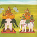 11. Lord of Five White Elephants (Ngázíshin nat) and 12. Lord of the White Elephant of Aung Pinl (Aungbinlè Sinbyushin nat) from The thirty-seven nats : a phase of spirit worship prevailing in Burma (1906) by William Griggs (1832-1911