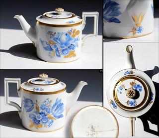 Teekanne Meißner Porzellan XVIII Jh