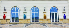 public vases (albyn.davis) Tags: luxembourg europe travel vases colors colorful bright vibrant light building doors reflections symmetry hdr