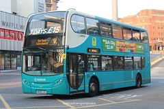 Arriva 4425 (anthonymurphy5) Tags: busgarage busspotting dadnladtransportphotos transport busphotography buspictures outside bus arriva 4425 mx09lxg enviro400 liverpoolcitycentre 090618