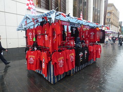 Champions League Final Street T-Shirt Stall Liverpool May 2018 (symonmreynolds) Tags: championsleaguefinal streettshirtstall liverpoolfc soccer football liverpool may 2018