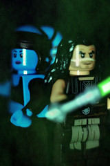 jedi portrait-master and padawan (notatoy) Tags: lego star wars jedi portrait lightsaber quinlan vos aayla secura