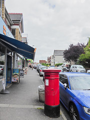 Victoria cypher A type post pillar box Caerleon Road shops Newport 04.08.2017 (1) (The Cwmbran Creature.) Tags: po p o gpo g general post office letter red street furniture heritage great britain united kingdom gb uk
