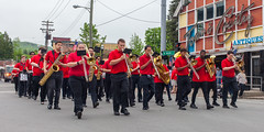 The Band Came To Town (John Kocijanski) Tags: red parade memorialday memorialdayparade people groupofpeople music band streetphotography streetcandid street canon40mmstm canon5dmkii sullivancounty