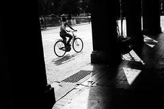 Street Photography. B o l o g n a . (MatteoMalagnino) Tags: black white street photography bike ombre bologna
