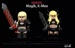 Magik, X-Men (L1n6zz) Tags: xmen engineerio diamondcustombricks marvel lego magik