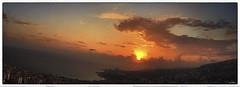 Lebanon Mediterranean Sunset (Shedraway Photos) Tags: mediterranean lebanon cloud aurora sunset goldensky sky cloudy blue chores chore sea seaside