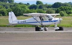 G-CISG (goweravig) Tags: gcisg ikarus c42 fb80 visiting aircraft swansea wales uk swanseaairport
