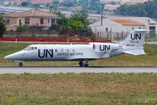 D-CSIX United Nations Learjet 60, LEMG, Spain