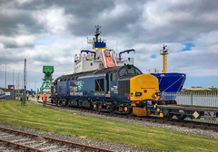 Barrow Docks (robmcrorie) Tags: cumbria midsummer june sun train rail railway iphone 7 plus 37423barrow dockdocksmaritimeterminalsellafield dock 37423 maritime terminal sellafield docks barrow nuclear