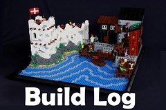 Imperial Port: Build Log (soccersnyderi) Tags: lego moc build creation log process walkthrough pirate imperial harbor house fort
