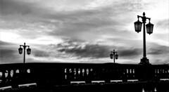 Dark night (WorcesterBarry) Tags: blackwhite blackandwhite bnw bridge street streetphotography streetphoto shadows silhouette sky lamps candid worcester