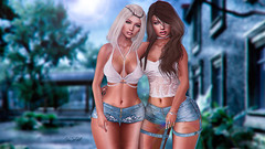 ◈№.458 - my aunt and me♥ (Alica Jinx van Hell) Tags: catwa maitreya adorsy cosmopolitan blueberry fabia mesh hair rama salon kinky event sl secondlife girls family