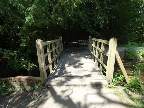 The Great Pool at Baddesley Clinton - footbridge