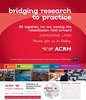 Bridging research to practice. Join us...