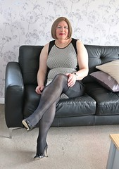 Grey and Black May 2018 (Jenny Gloria Williams) Tags: transgendered fiore tranny transvestite tg transvestie trannie tranvesti transvestit transvestism tranvestitit travestido transvestitism crossdresser crossdressing crossdress crossdressed jennywilliamstv slingbacks bbtv blonde