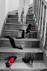 Désire... (Photography Christophe.H) Tags: pieds piedi pies ashi ноги piedsnus art escarpins reflex toe talon füse orteil pantyhose sole sexy feet foot barefeet barefoot girls hot jambe leg legs women canon chaussure collants nb stocking portejarretelles garters 700d 1855