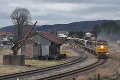 Winding at Wang (highplains68) Tags: aus australia nsw newsouthwales rail railroad railway mainwest westernline ssr 4843 southernshorthaulrailroad c505 c509 c506 c504