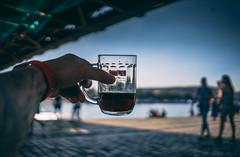 Pivo na Náplavce :-) (Robert Hájek) Tags: beer praha prague landscape sun vltava czphoto czech czechrepublic sonya7ii sony