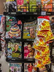2018 - photo 169 of 265 - checkout line in grocery store (old_hippy1948) Tags: magazines junk snacks