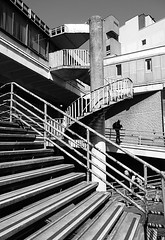 Condemned stairs (Thrift) Tags: preston buildings city shadows steps concrete monochrome spiral