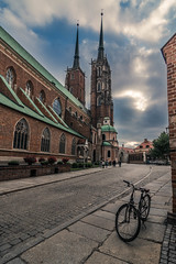 Tumski island (Vagelis Pikoulas) Tags: wroclaw poland europe bike bicycle landscape city cityscape urban cathedral view tokina 1628mm canon 6d may spring 2018 travel holidays architecture church street