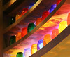 Collecting Colors (studioferullo) Tags: abstract architecture art beauty bright colorful colourful colors colours contrast dark design detail edge light minimalism perspective pattern pretty shadow study texture tone world mesagrill flay lasvegas nevada jar shelf bottle glass curve strip