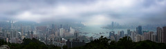 Victoria Harbour from Braemar Hill (peter.heindl) Tags: bremar aussicht outlook urban landscape braemar hill 寶馬山 victoria harbour hong kong hongkong overview lookout pano panorama city clouds rain cloud bad weather 宝马山 april