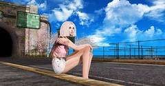 Waiting for him to come Home (テイラー) Tags: secondlife entwined pixicat cynefin mermaid outside home boardwalk ocean sea mesh taylorwassep