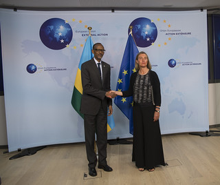 President Kagame meets with Federica Mogherini, High Representative of the Union for Foreign Affairs and Security Policy/VP of the European Commission | Brussels, 4 June 2018