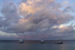dive boat dawn (Jeff Mitton) Tags: sky clouds sunrise bonaire caribbean marine tropical sea