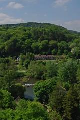 Ludlow 220518 - DSC_0642 (Leslie Platt) Tags: exposureadjusted straightened lookingw shropshire birthdaytreat ludlowcastle riverteme